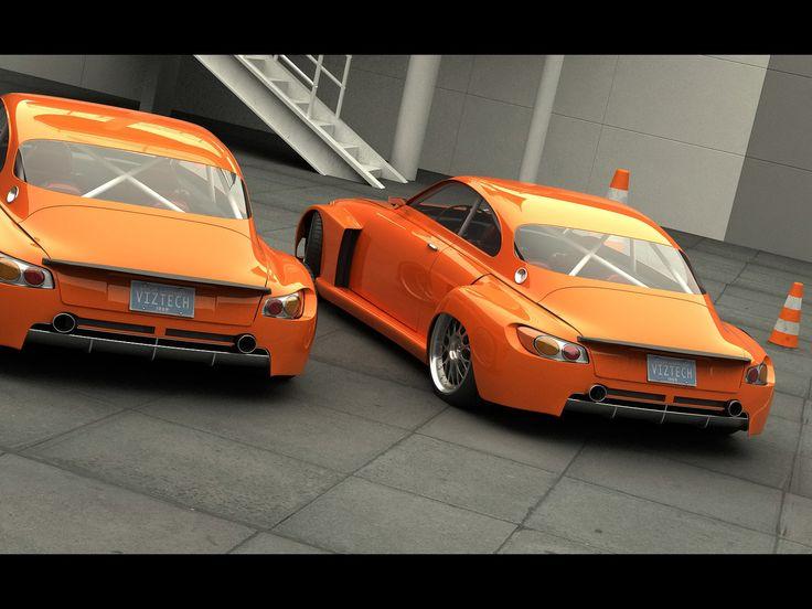Orange Crush Custom 1968 Saab