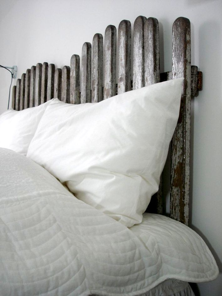 old wooden fence headboard....I do not know but it is interesting...and I am looking for a headboard.