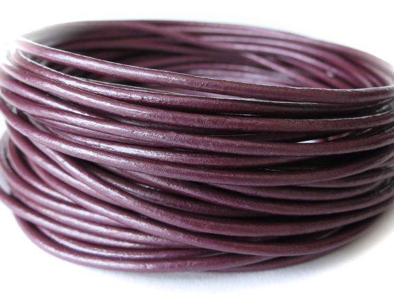 cavo di cuoio nella bacca metallico, cordoncino di cuoio di 1,5 mm per braccialetto che fa, per artigianato UK rotondo di 10 metri