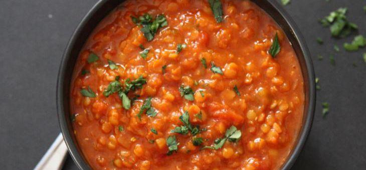 Červená čočka se sušenými rajčaty