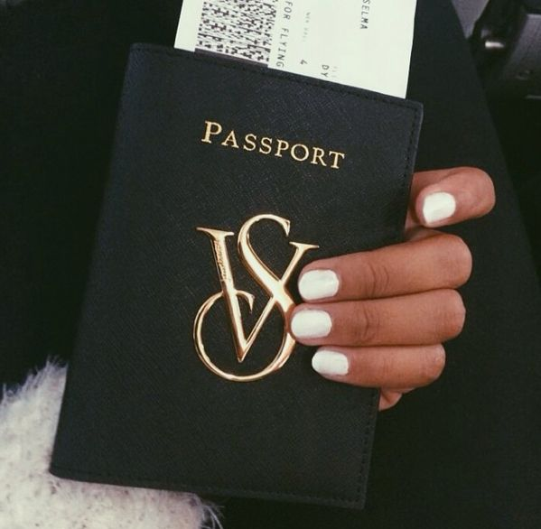 Victoria Secret's passport holder