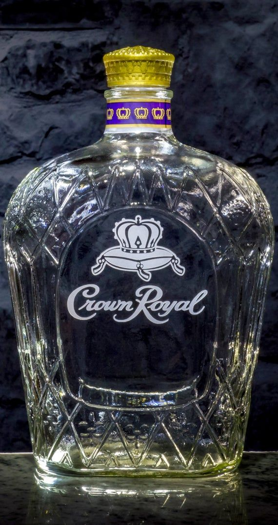 Crown Royal Whisky Custom Engraved Personalized Bottle Decanter, Husband Gift, Boyfriend Gift, Fathe