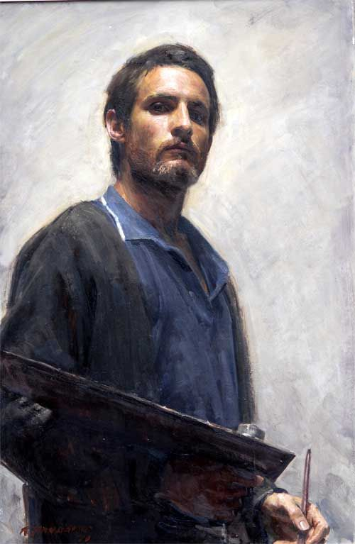 Robert Hannaford (1944 - ) South Australia: Self-Portrait - 1970 / Primarily known as a portrait artist, he is also known for his landscapes, still-life's and nudes.