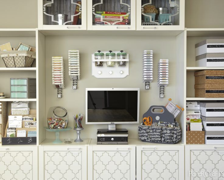 Wall Storage   Paper Crafts U0026 Scrapbooking Room Featured In Creative  Spaces, Vol. 3