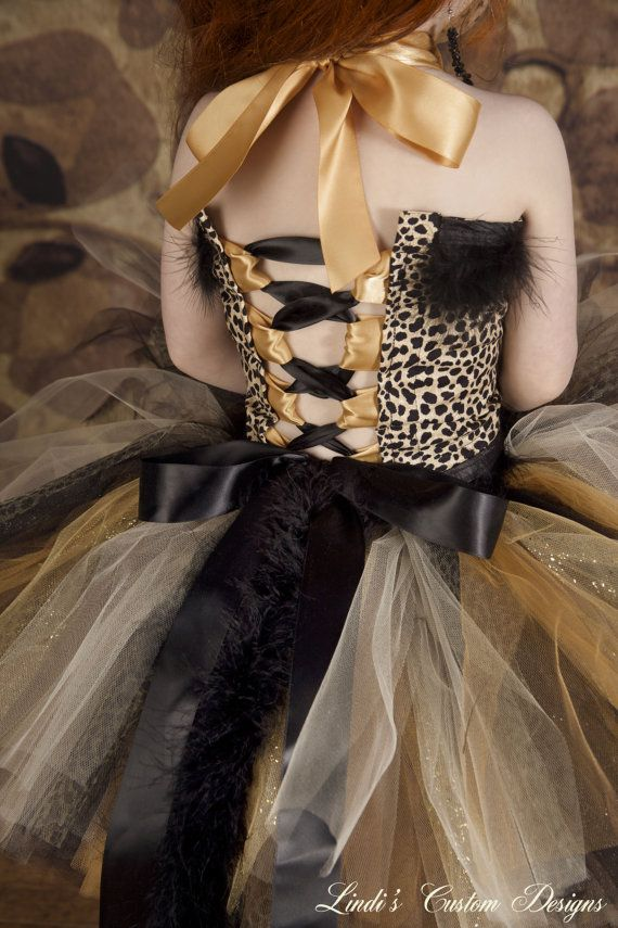 Cheetah Leopard Print Tulle Tutu Costume accented with ...