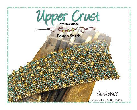 Pondo Stitch Cuff Beading Tutorial UPPER CRUST by Studio183, $8.00