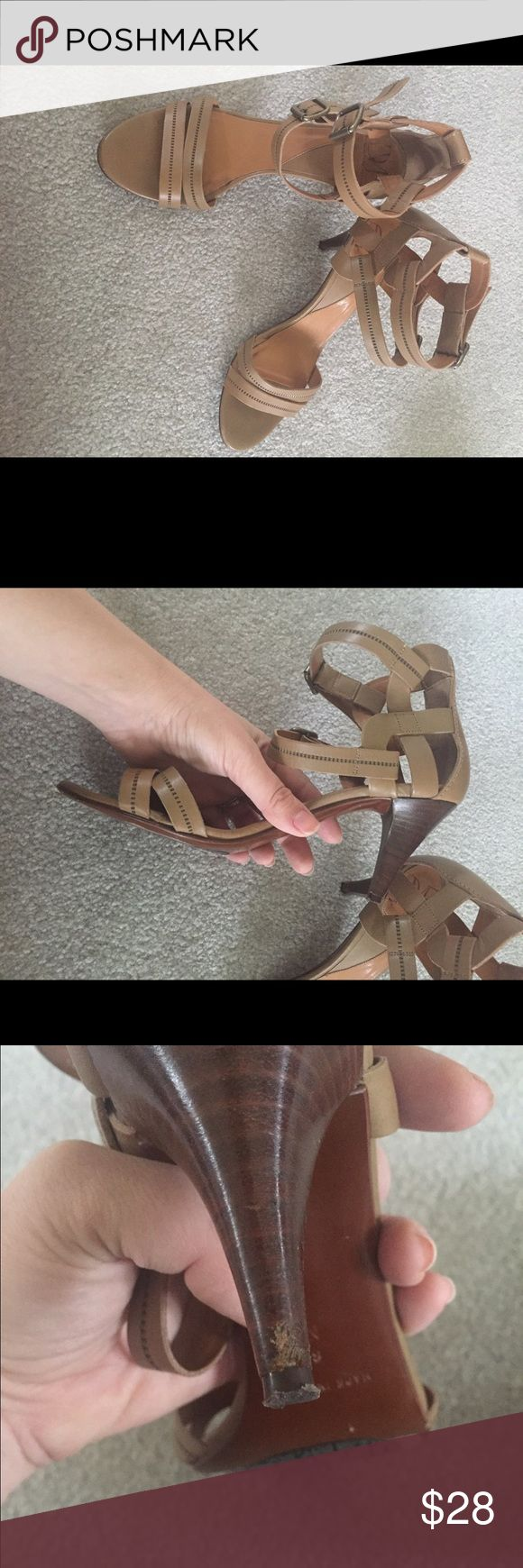 Diane Von Furstenberg Neutral Strappy Sandals Gorgeous neutral sandal strappy heels from Diane Von Furstenberg. They are a size 8, and have little wear other than to the heels as pictured! Perfect with jeans or a gorgeous dress. #neutral #dvf #dianevonfurstenberg Diane von Furstenberg Shoes