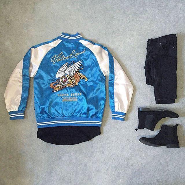 🐯🐍 ▪️▪️ Top: #vatossociety Jacket Middle: #representclo Shirt Bottom: #hm Jeans Shoes: #topman Chelsea Boots