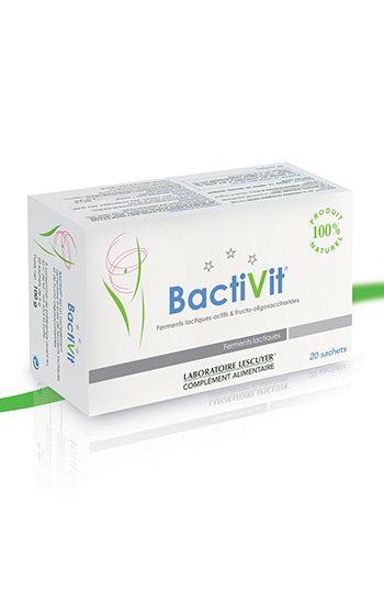 Bactivit - Ferments lactiques actifs & fructo-oligosaccharides - Complément alimentaire - Prix : 23,90 € TTC