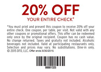 Denny's Printable Coupon: Get 20% Off Your Total. | Coupon Sherpa