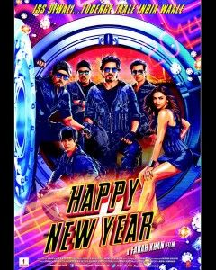 Happy New Year Movie is upcoming bollywood action comedy drama movie which is directed by Farah Khan and produce by Gauri Khan.Music in Happy New Year Movie is given by Vishal and Shekhar. In movie Shahrukh Khan and Deepika Padukone in the leads with supporting roles by Abhishek Bachchan, Boman Irani, Sonu Sood and Vivaan Shah. And After Om Shanti Om and Main hu Na movie now third time collaboration between the khan's.