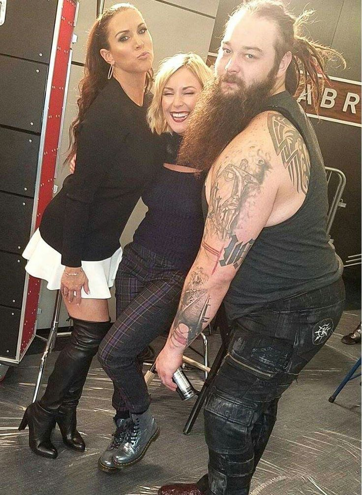 Bray Wyatt, Renee Young, Stephanie McMahon. Never knew I needed to see Bray twerk