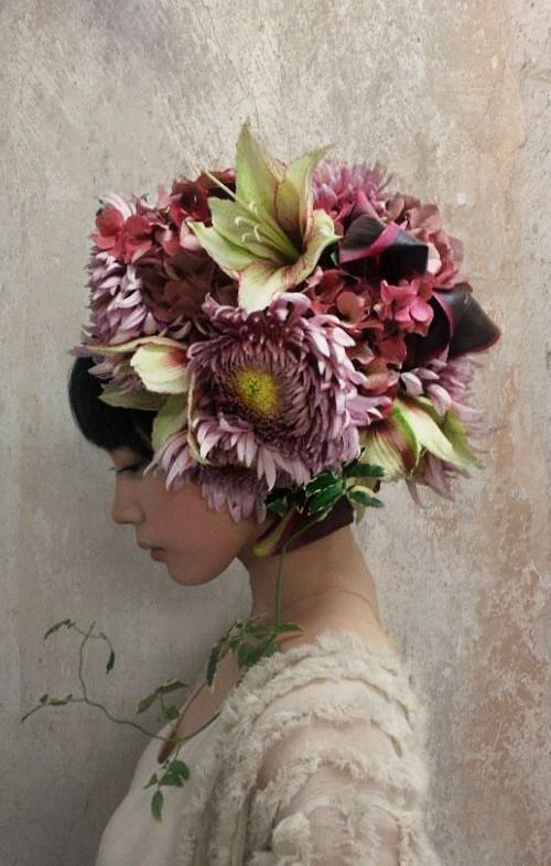 Large floral headpiece