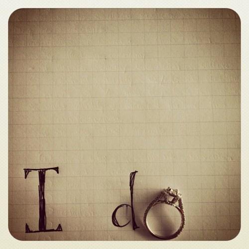 """""""i do"""" engagement ring photo"""