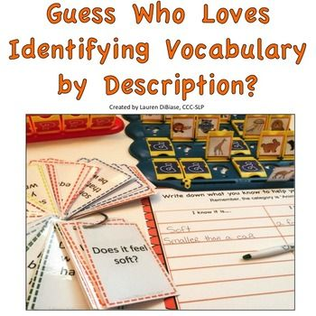 Targeting vocabulary, categories, asking WH questions, and using descriptive language, are all common goals of speech therapists.  This product contains a fun way to target all of these areas! 37 pages are included in bright and engaging colors and the same product is included in black and white for money saving printing.