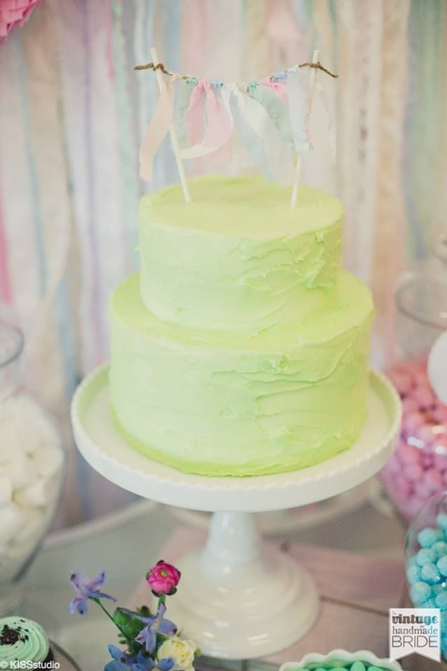 Lime Green cake