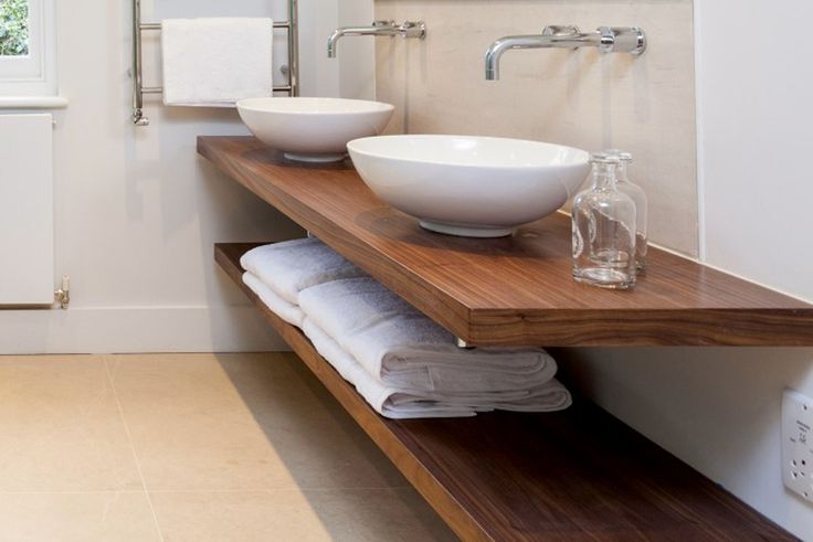 Sink counter tops are triple lacquered making them completely waterproof. The hidden basin wall bracket can support 90kg. Please call to discuss your wall type. All purchases are fully covered by a 100% quality satisfaction guarantee. Enter your required sizes into the calculator below to receive an instant quote for a floating basin shelf. …