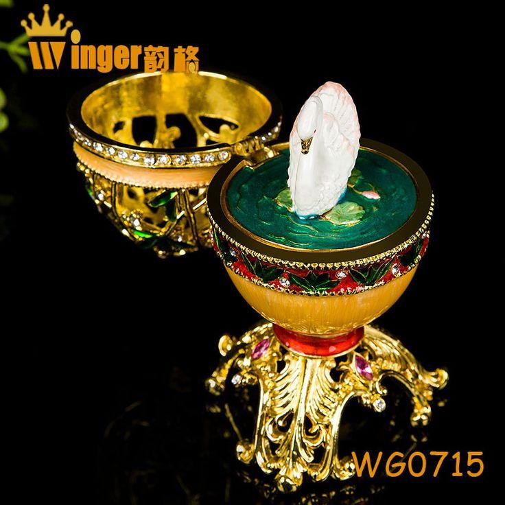 Gratis Verzending Swan Decor Hollow Rusland Eieren Trinket Box Vintage Thuis Display Golden Faberge Paasei Crystal Metal Craft in aberge Eieren, Sieraden Trinket Doos, Trouwringen Case, Paasei, Metal Craftklik deze website naar onze winkel:http://www van metaal ambachten op AliExpress.com | Alibaba Groep