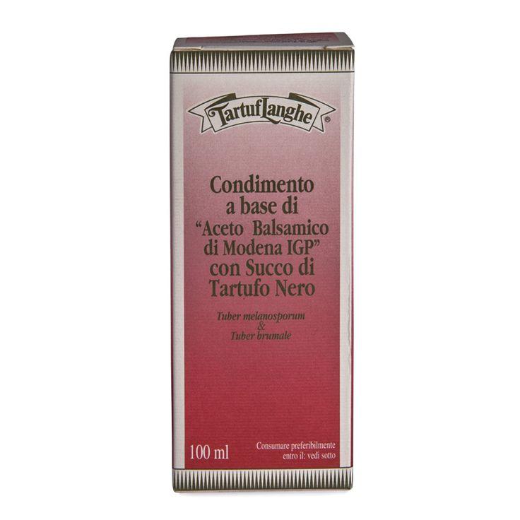 """TartufLanghe - Condimento a Base di """"Aceto Balsamico di Modena IGP"""" con Succo di Tartufo Nero - Balsamic Vinegar From Modena with Black Truffle Juice 3.4fl oz (100ml)"""