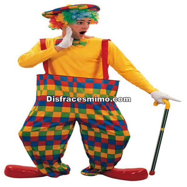 El disfraz payaso cuadros adulto, incluye pantalon,pajarita y gorro          , con la talla m/l en Disfracesysexshop.com