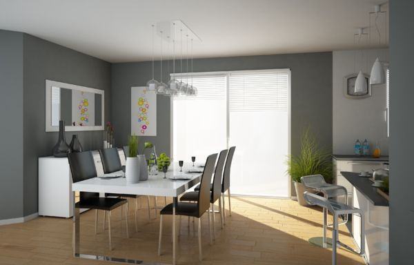 Modernes de cuisine gris id es de couleur de peinture - Idee peinture cuisine grise ...