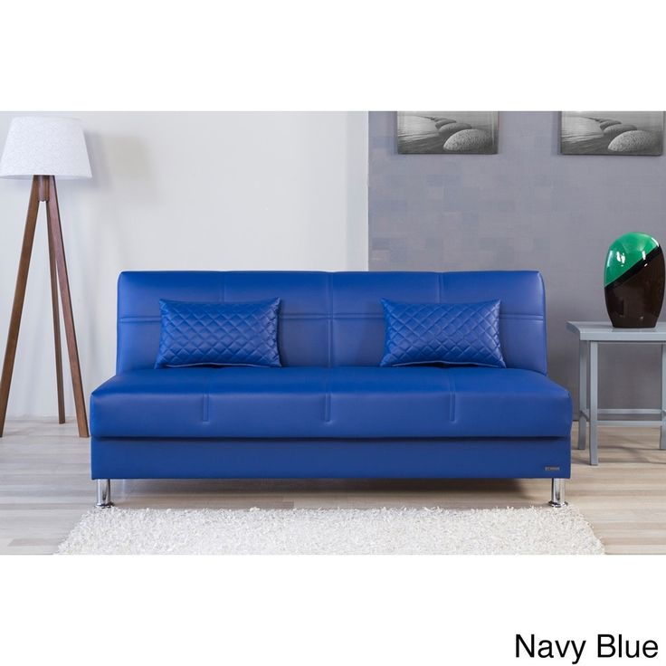 Eco Rest Contemporary Faux Leather Sleeper Sofa (Zen Navy Blue), Size Twin - Best 10+ Contemporary Sleeper Sofas Ideas On Pinterest Modern