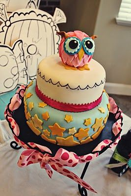 Very different! : Food, Cake Ideas, Night Owl, Owl Cakes, Party Ideas, Birthday Party, Birthday Cakes, Baby Shower