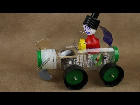How to make a Car - Rubber Band Powered Car - Very Simple - YouTube