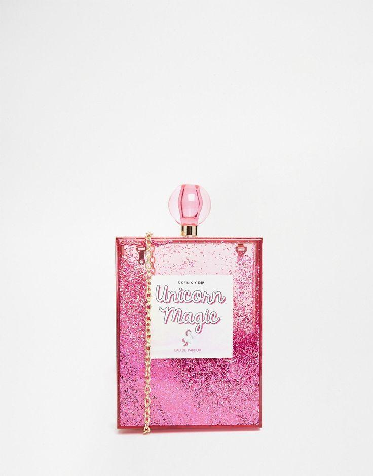 Image 1 ofSkinnydip Unicorn Magic Box Bag in Pink Glitter
