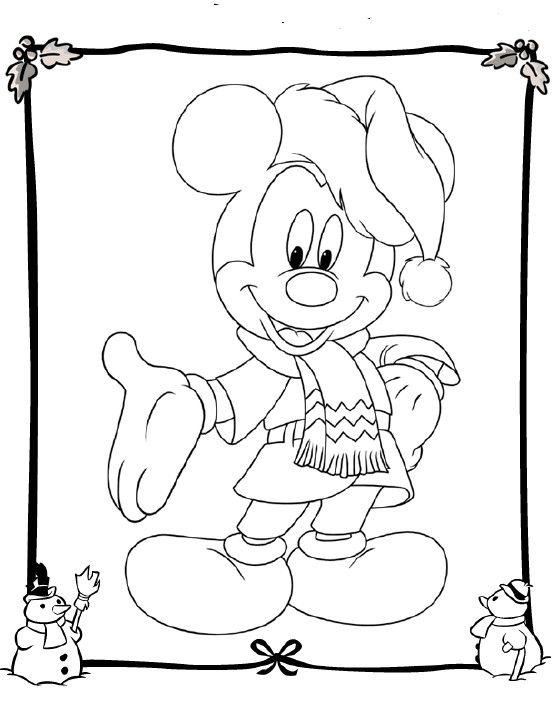 Mickey dando as boas vindas para a ceia