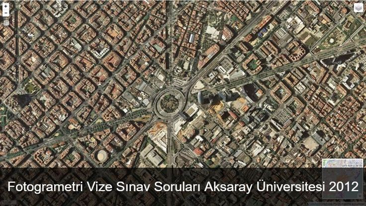 Aksaray Üniversitesi Harita mühendisliği öğrencileri için hazırlanmış Fotogrametri vize soruları.