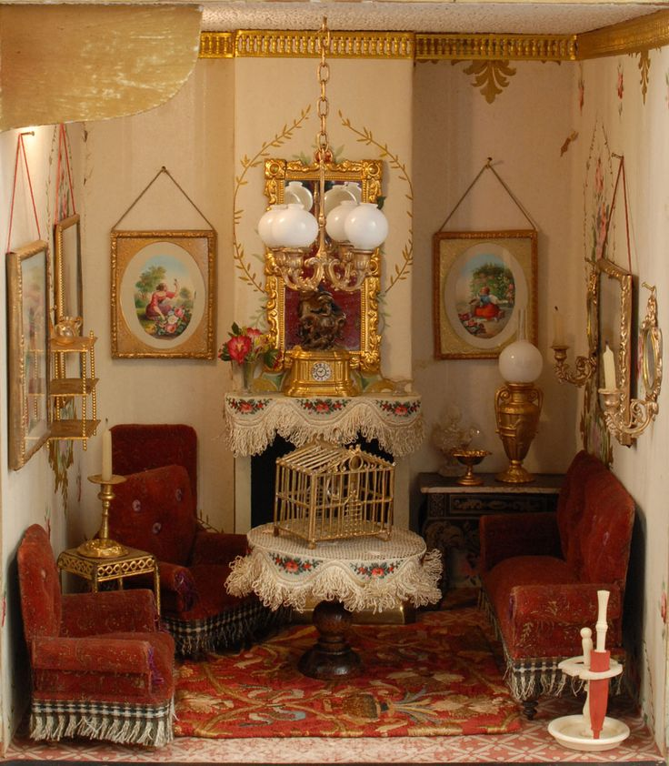Fabulous Dollhouse Rooms, from Carmel Doll Shop. - 648 Best Antique Dollhouses/Furnishings Images On Pinterest