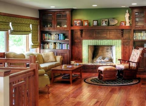 Classic And Traditional Living Room Design In Green, With A Craftsman Style  Vibe. From 1 Of 28 Projects By Renovation Design Group. Part 26