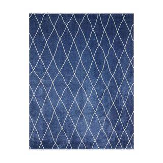 nuLOOM Modern Moroccan Trellis Lattice Blue Rug (5' ...