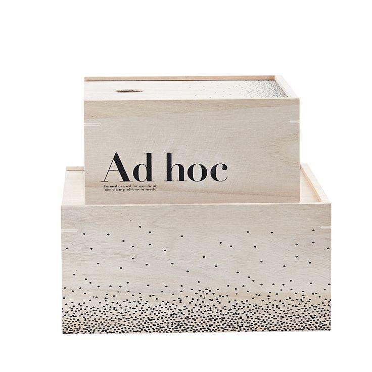 Ad Hoc Förvaringsbox 2-Pack, House Doctor