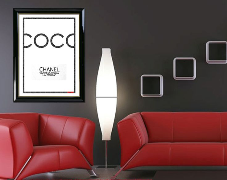 """Coco Chanel Typography Wall Art Portrait of """"Coco Chanel 01"""" Digital Download by DigitalPrintStore on #Etsy #gift #cocochanel #chanel"""
