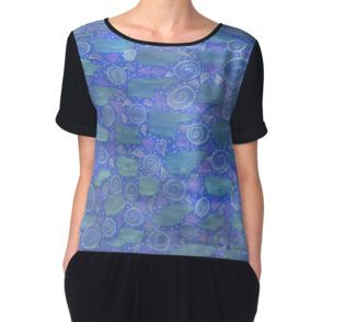 Women's Chiffon Top also available in white.