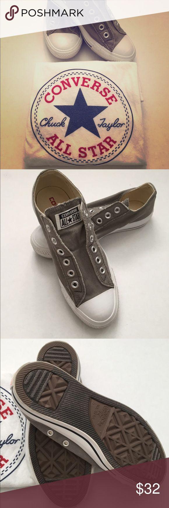 Converse Slip On Grey Converse slip on. Worn twice. Size 7 in Women. Men size 5. Converse Shoes Sneakers