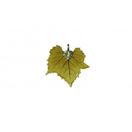 Vigne : pendentif en véritable feuille. Référence 16006VIG État : Nouveau produit Bijou unique et original : pendentif en véritable feuille de vigne (Genre vitis vinifera). Sans aucun colorant, cette feuille est telle qu'apparue après séchage. Attention...