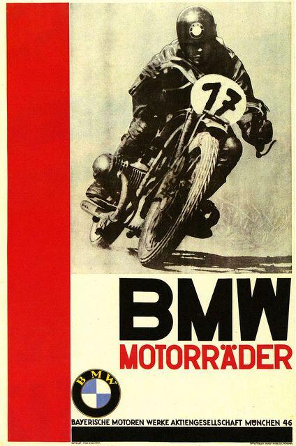 BMW Motorader :: Poster by Popp-Kurcheim, 1935.