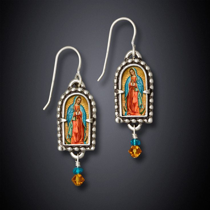 Lady of Guadalupe Earrings - bijou graphique
