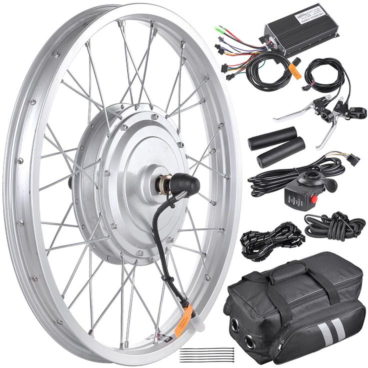 Fat Tire Electric Motor Kit: 36v 750W 20in Front Fat Tire Electric Bicycle E-Bike Motor