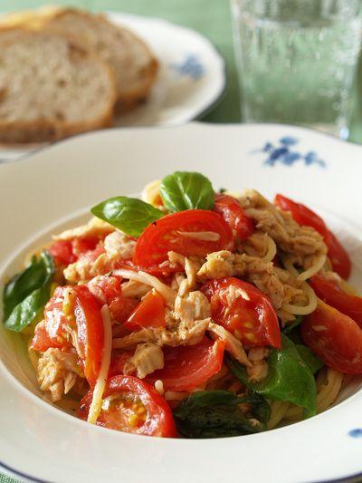 「ツナ&フレッシュトマトのスパゲッティ」のレシピ by 星野佳代さん | 料理レシピブログサイト タベラッテ