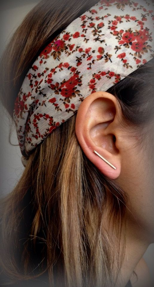 Straight Copper Stud Ear Pinsstraight studslong by Pulso on Etsy