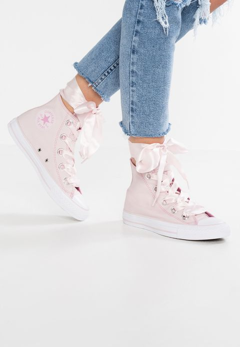 Details zu Converse Chuck Taylor All Star Barely Rose Baby Pale Pink White Low Top Trainers