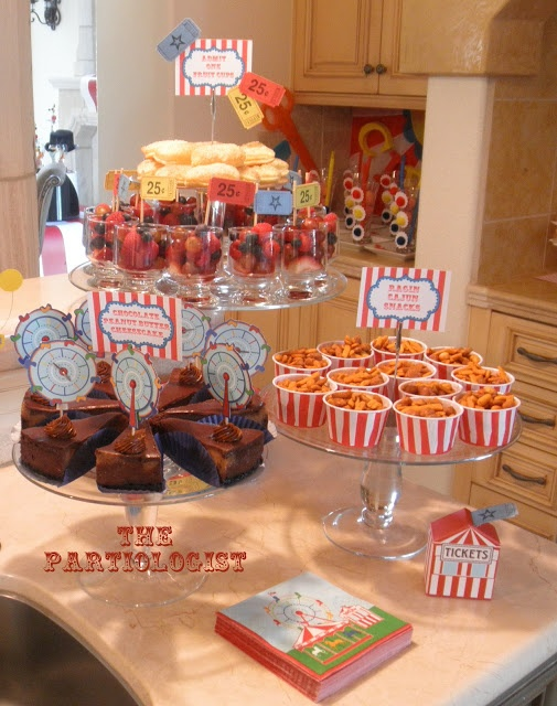 The partiologist circus carnival birthday ideas for kiddos pinterest the o 39 jays search - Carnival foods ideas ...