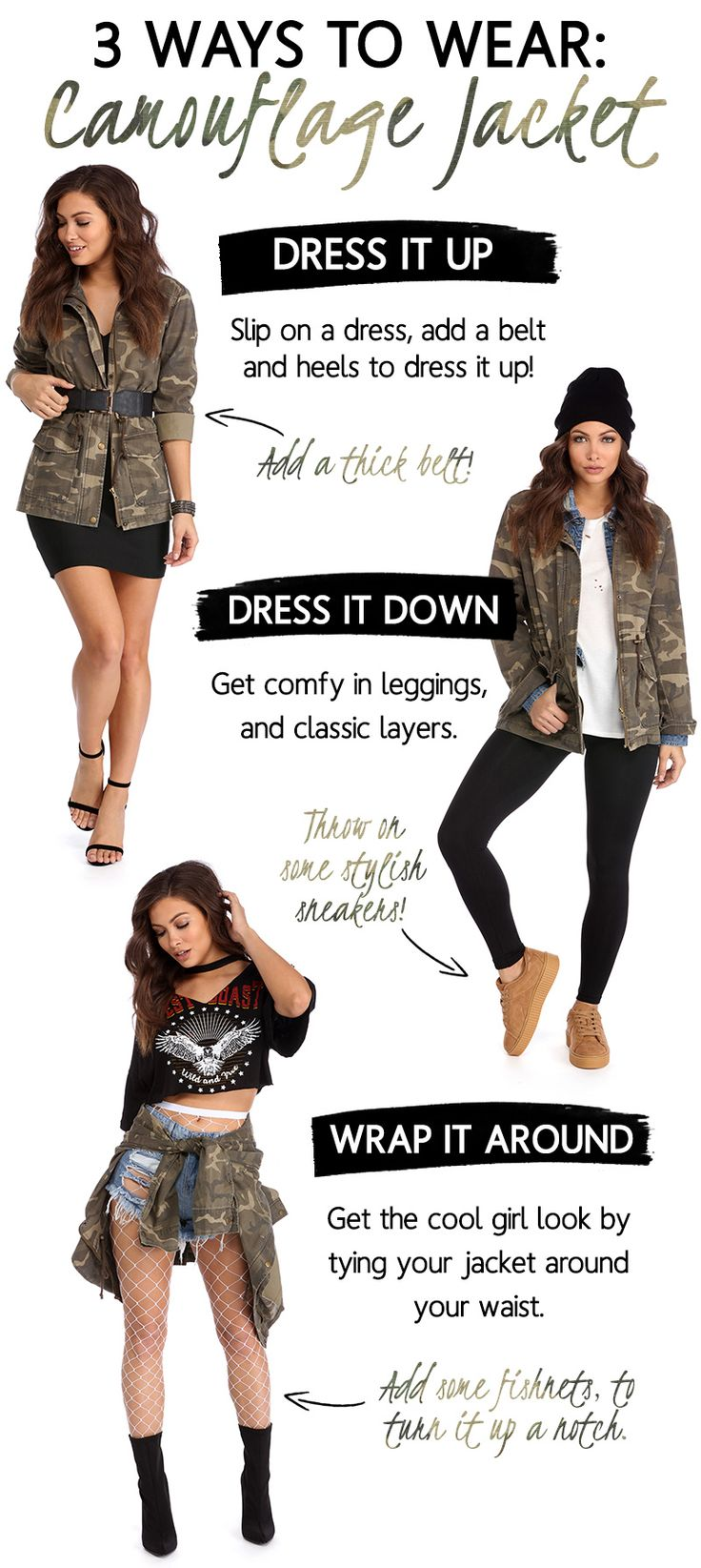 3 Way Thursday: Camouflage Jacket