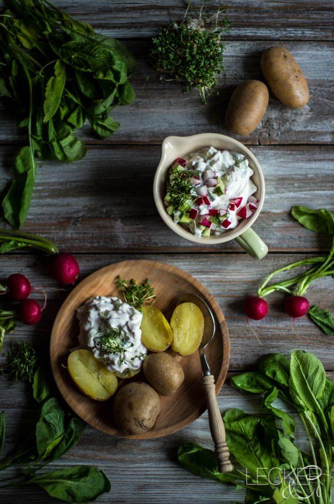 Kartoffeln mit Radieschenquark und Kresse | vegetarisch