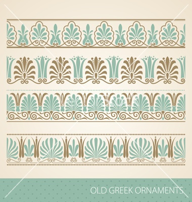 Old greek ornament vector on VectorStock®