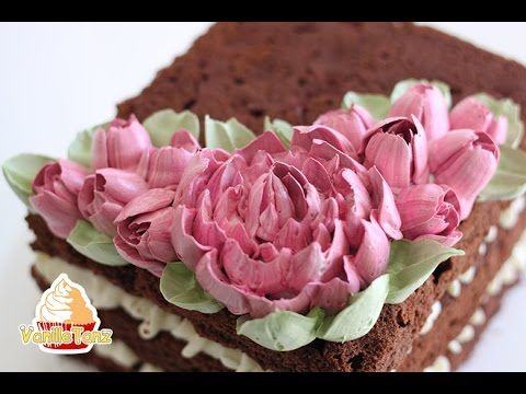 Tutorial Peony Cream Flower with Russian Tips - YouTube